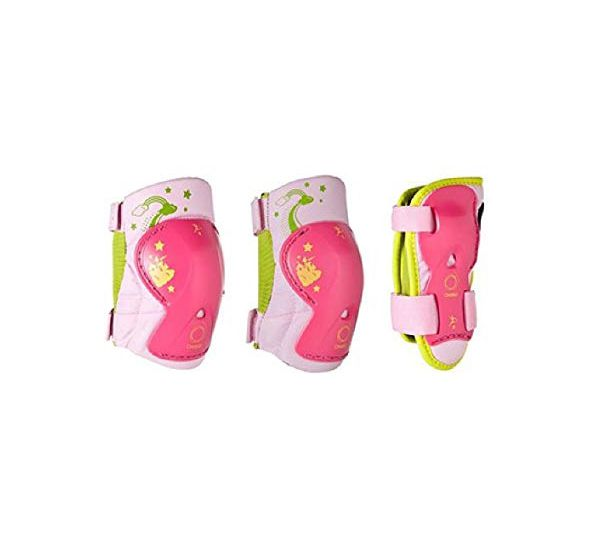 Kit de Proteção Infantil Rosa para Rollers e Skates Oxelo