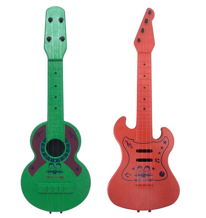 Kit Violão e Guitarra de Brinquedo Plástico Dutati