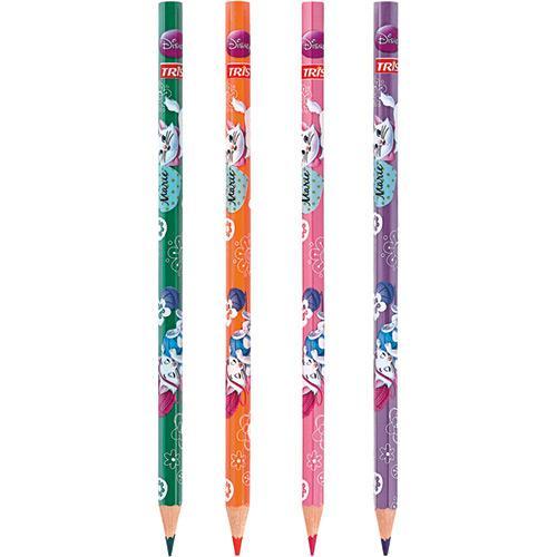 Lápis de Cor Tris com Apontador Marie 12 Cores