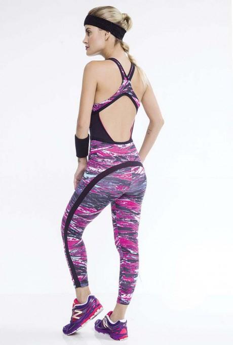 Macacão Fitness Colorido