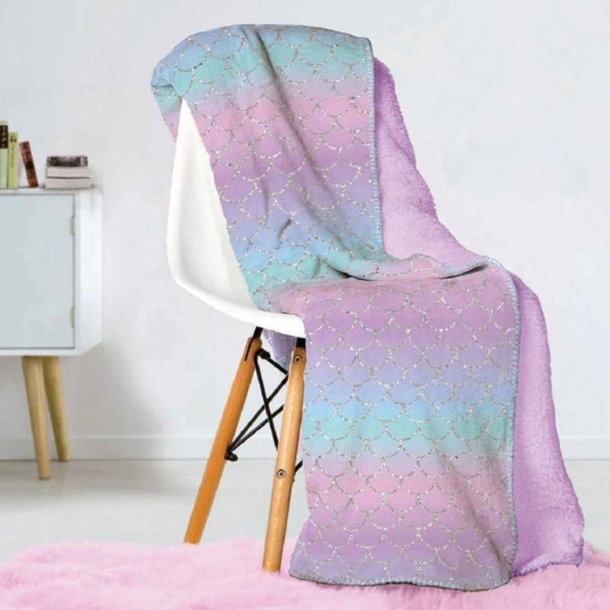 Manta Solteiro Tie Dye Fleece Dupla Face Glam Kids Lepper