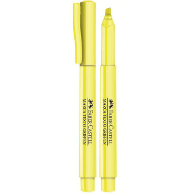 Pincel marca texto amarelo grifpen SM/MTAMZF Faber Castell 1 UN