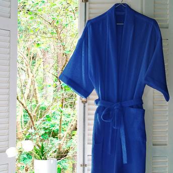 Roupão Atoalhado Unissex Judoca Azul Santista