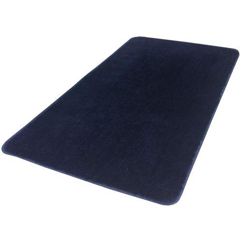 Tapete Veludo Retangular Antiderrapante Liso VIP 50cm x 90cm Azul Jolitex