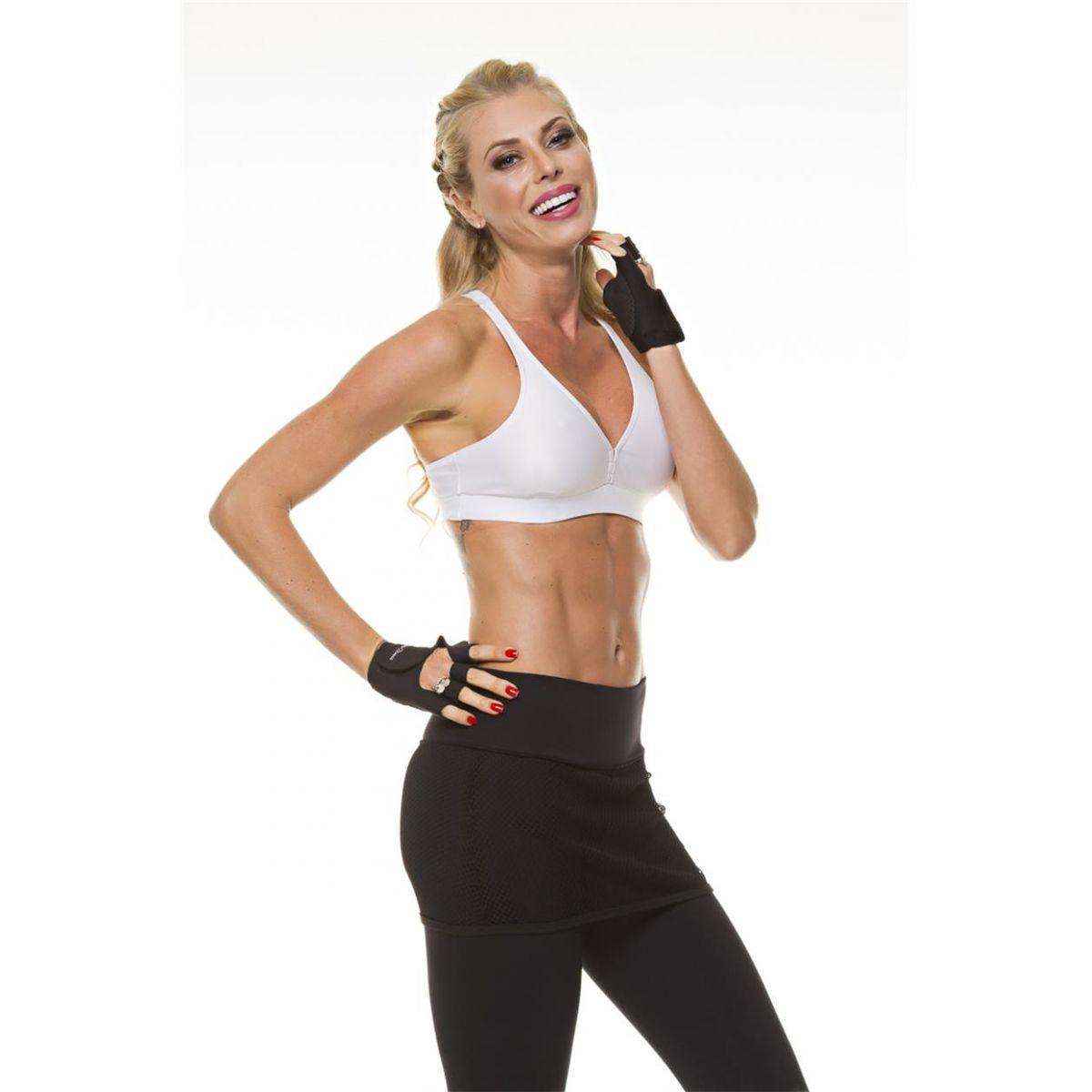 Top Cirrê Branco Nadador Diva Fitness