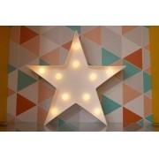 Estrela luminosa decorativa luminária led 3D  a pilha