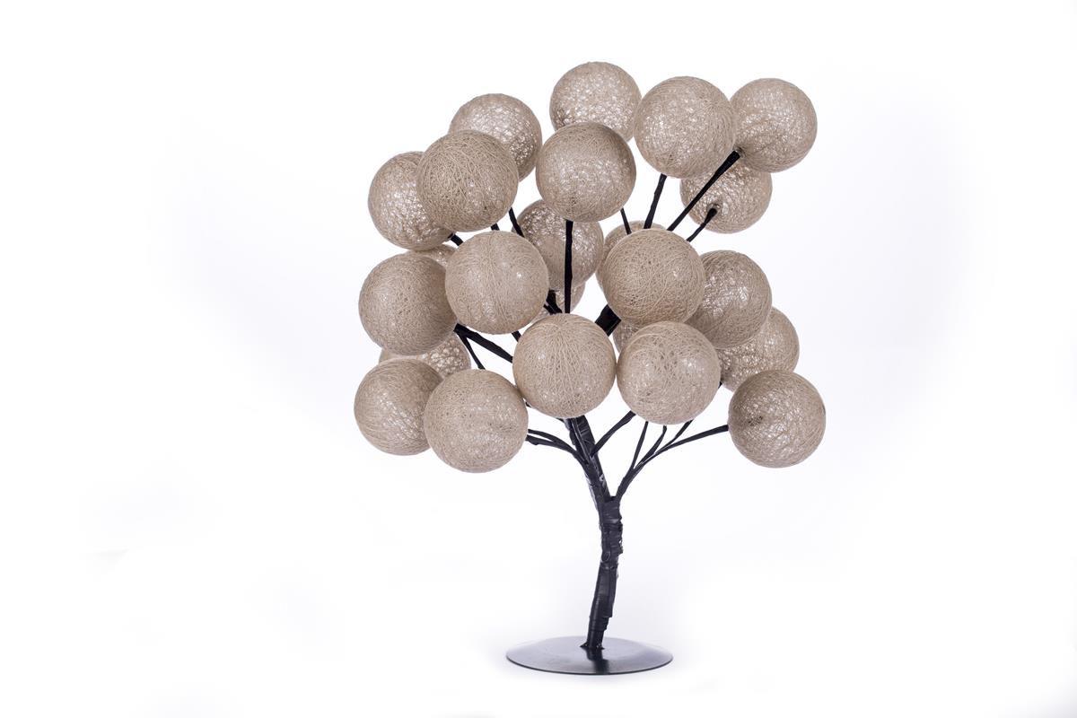 Árvore luminária LED bonsai abajur 24 bolinhas Pérola - tomada bivolt