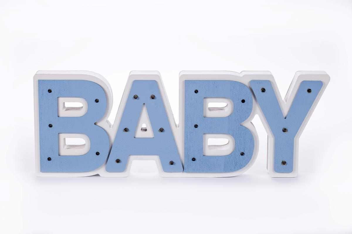 BABY Luminoso azul bebê mdf luminária led quarto de menino luxo