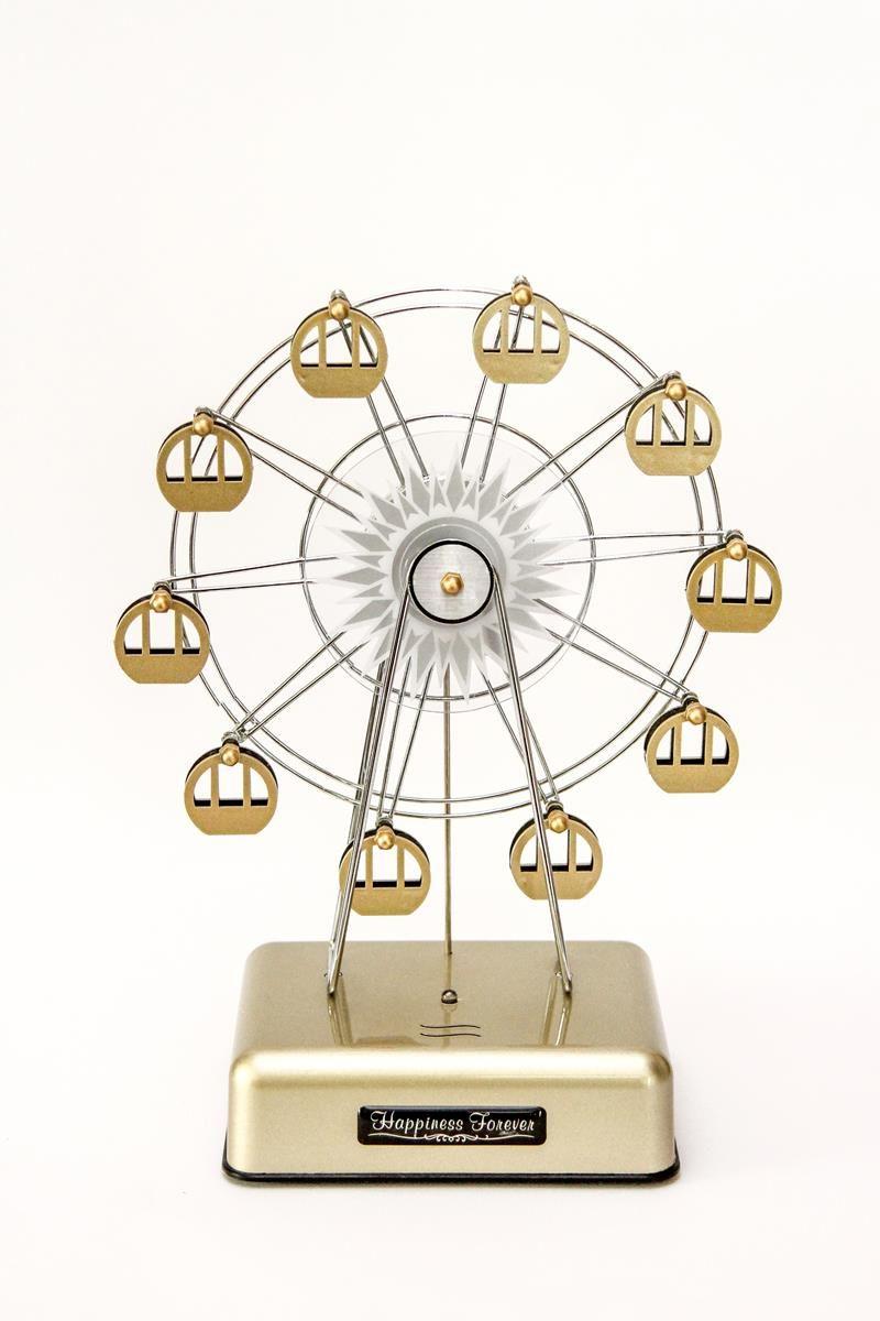 Caixa de música roda gigante Dourada com LED Gold