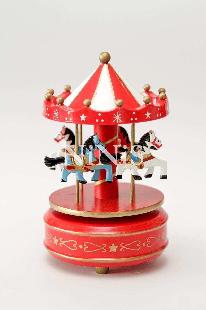 Carrossel musical - Caixa de música cavalinhos RED