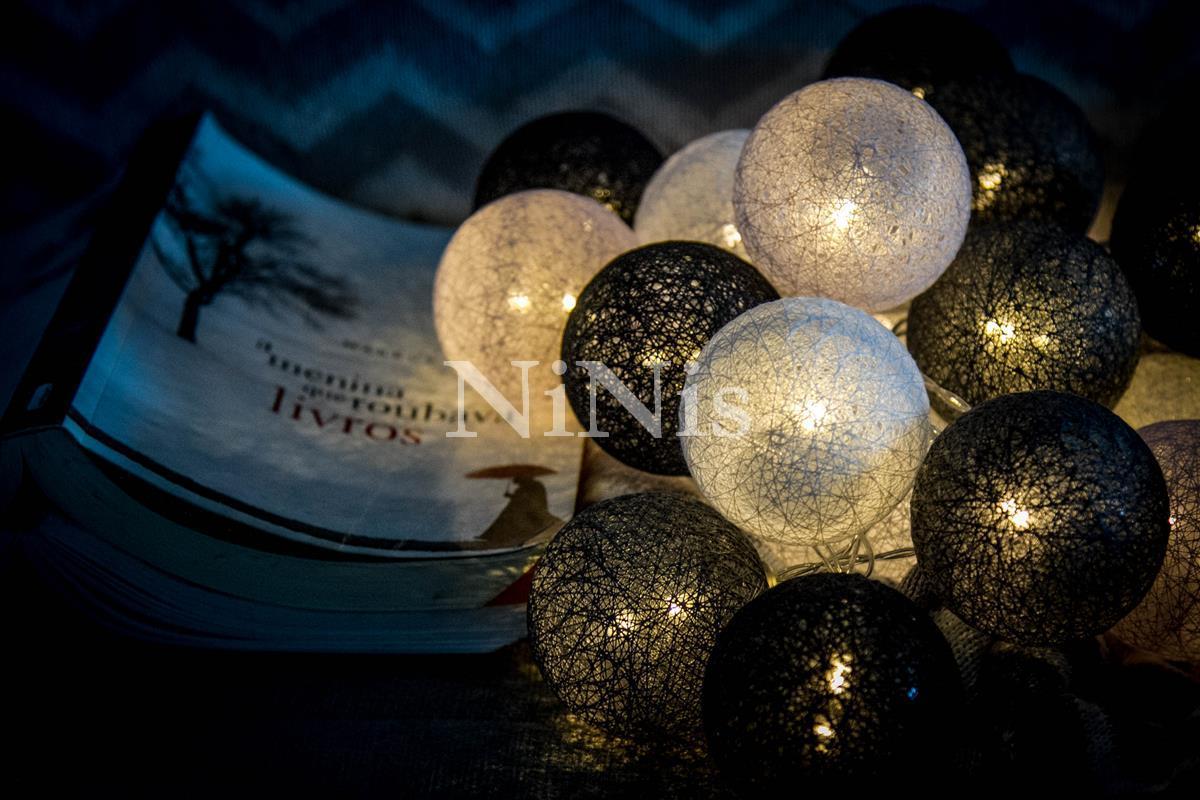 Cordão de luz Oxford - luminária Led decorativa de 20 leds