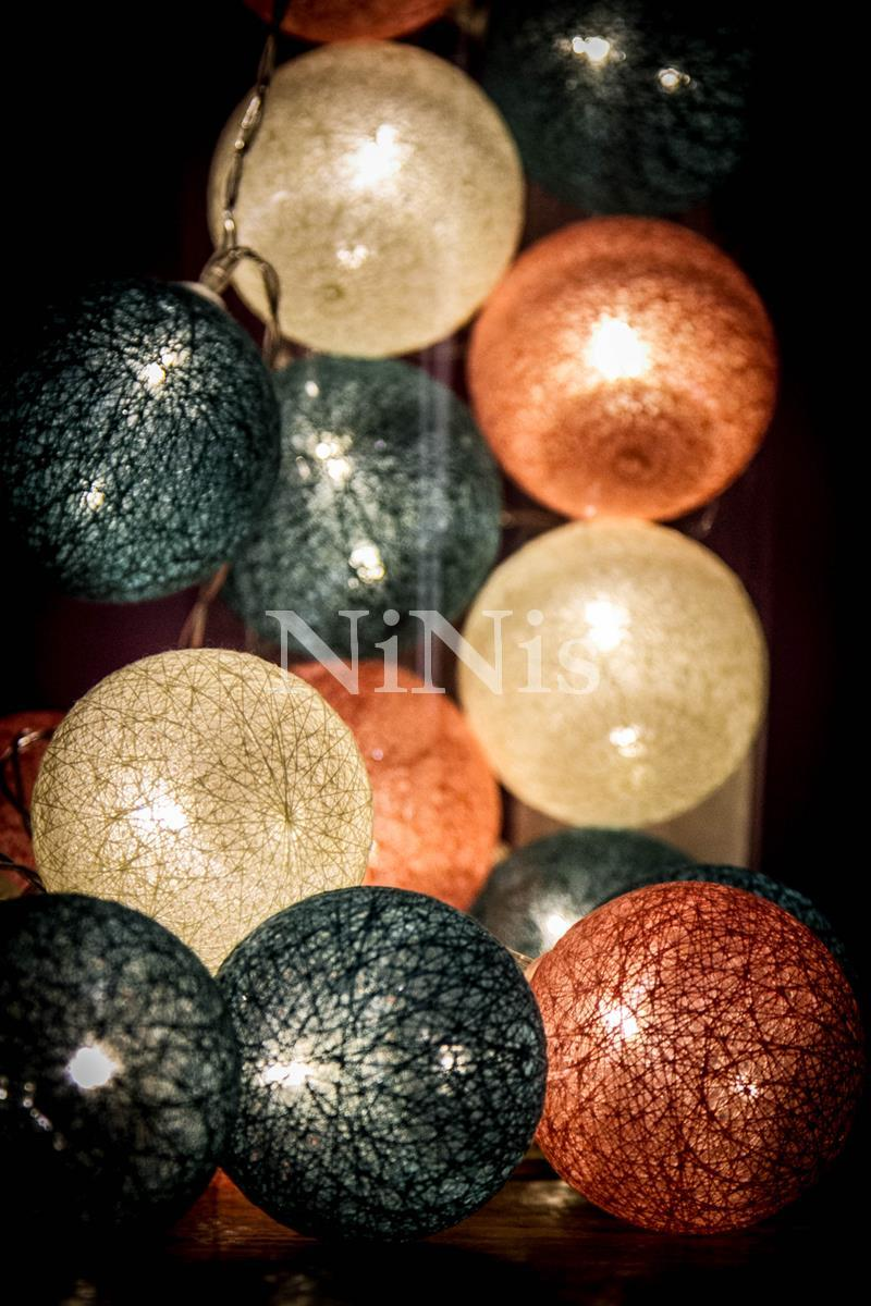 Cordão de luz Bahamas - luminária  de bolinhas 20 leds
