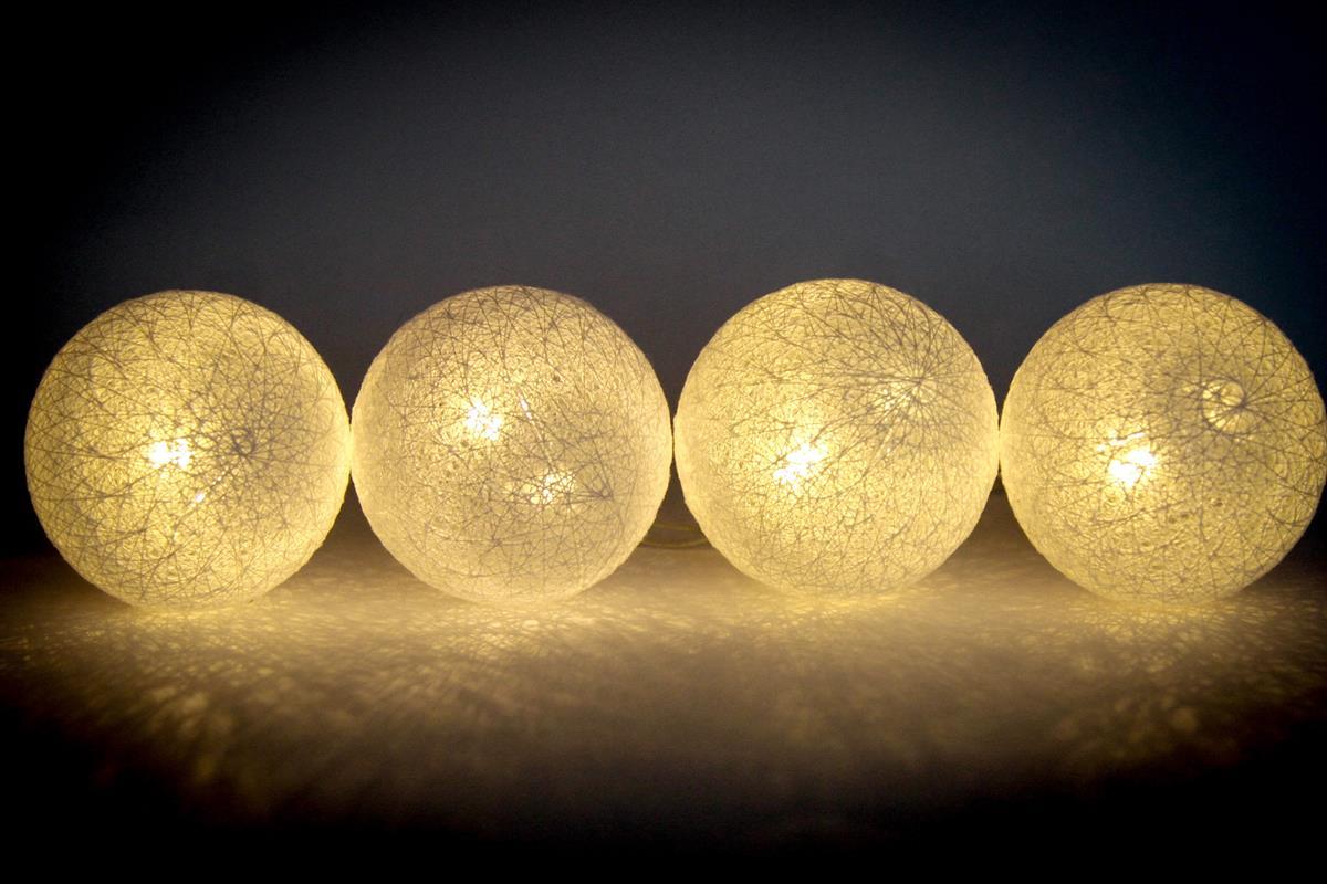 Cordão de luz Branco- luminária 20 leds fio de luz