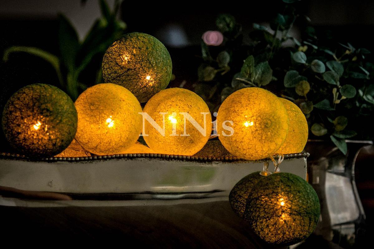 Cordão de luz Brasil - luminária Led decorativa de bolinhas 20 leds