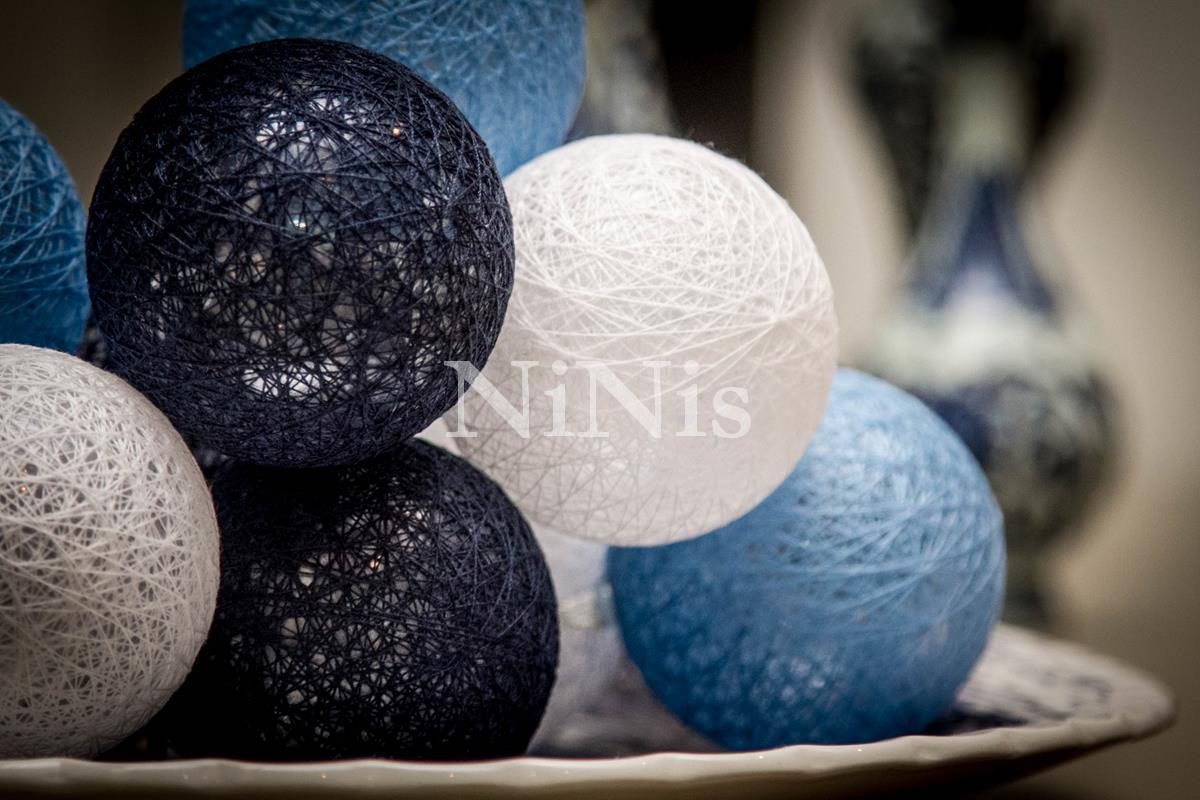 Cordão de luz Istambul -  bolinhas de algodão 20 leds