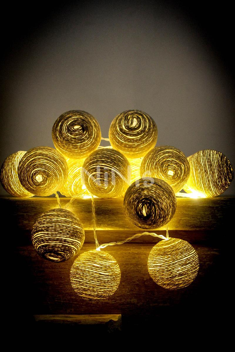Cordão de luz de cordel AREIA - luminária Led decorativa 20 leds