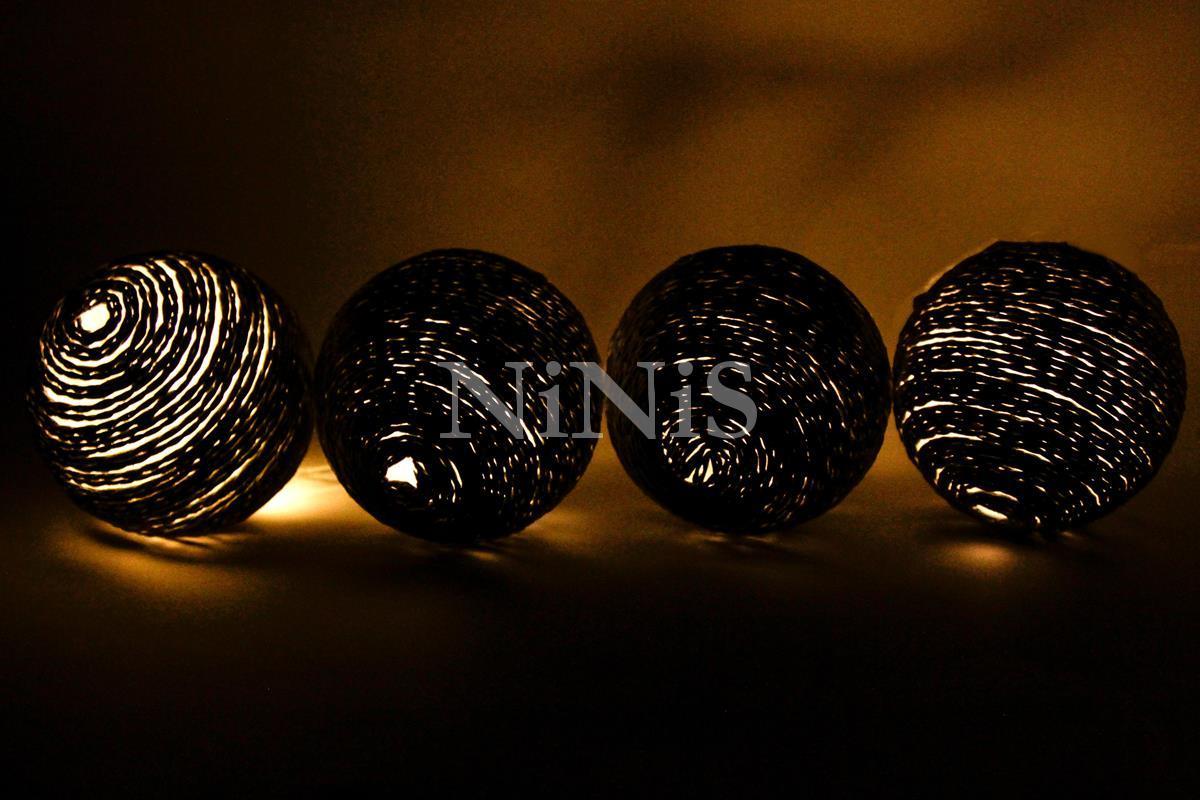 Cordão de luz de cordel CAFÉ - luminária Led decorativa 20 leds