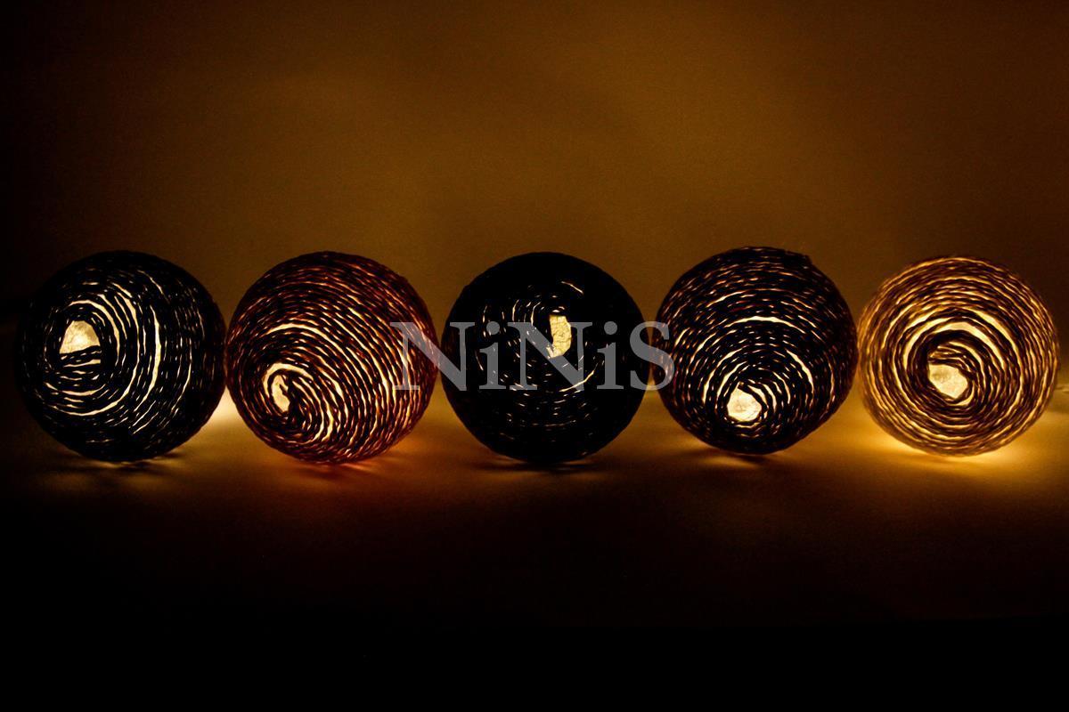Cordão de luz de cordel MINERAIS - luminária Led decorativa 20 leds