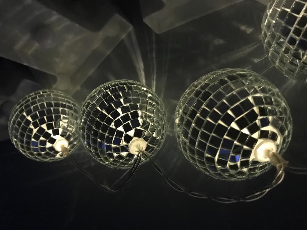 Cordão de luz  de Globinho espelhado luminária fio de luz 10 leds