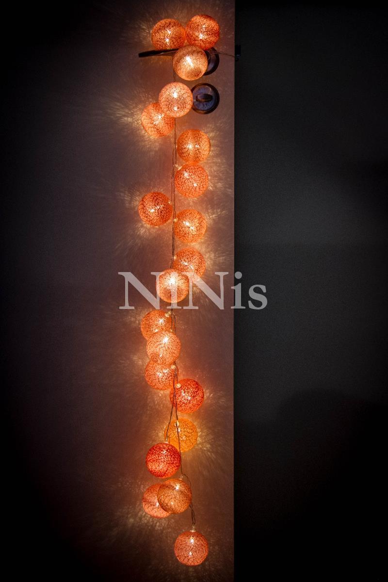 Cordão de luz Flamingo - luminária decorativa de bolinhas 20 leds