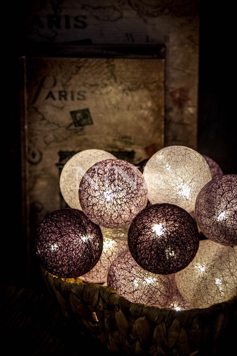 Cordão de luz Grapes - luminária decorativa de bolinhas 20 leds