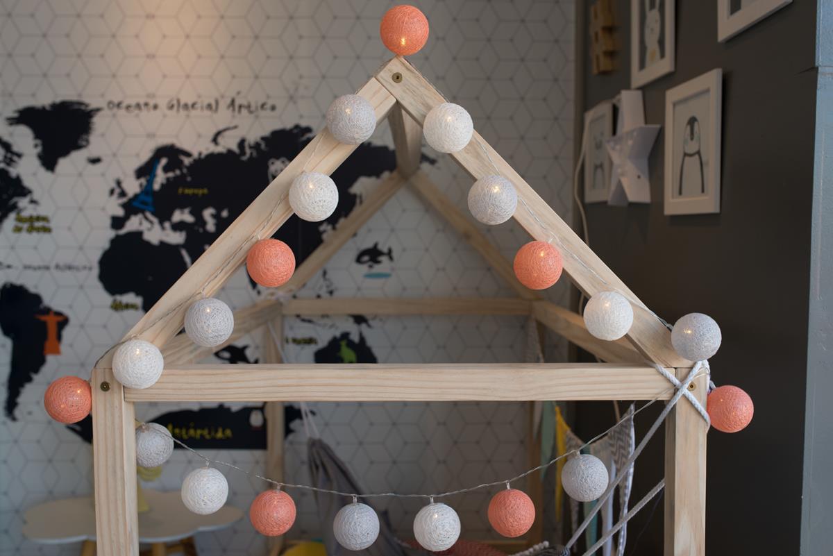 Cordão de luz  Orange Candy fio de luz 20 leds Ninis