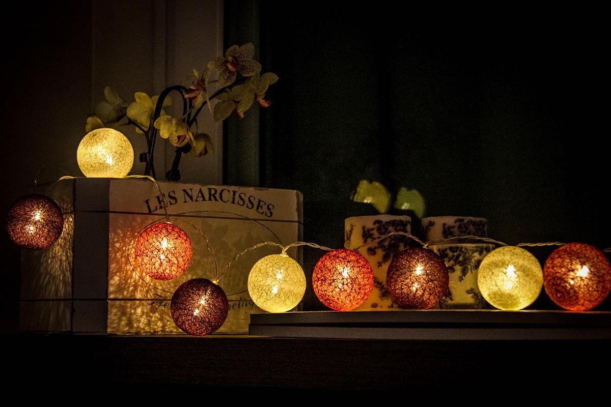 Cordão de luz Orquídea - luminária Led decorativa fio de 20 leds