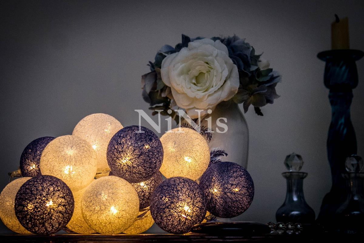 Cordão de luz Santorini- luminária fio de luz 20 leds
