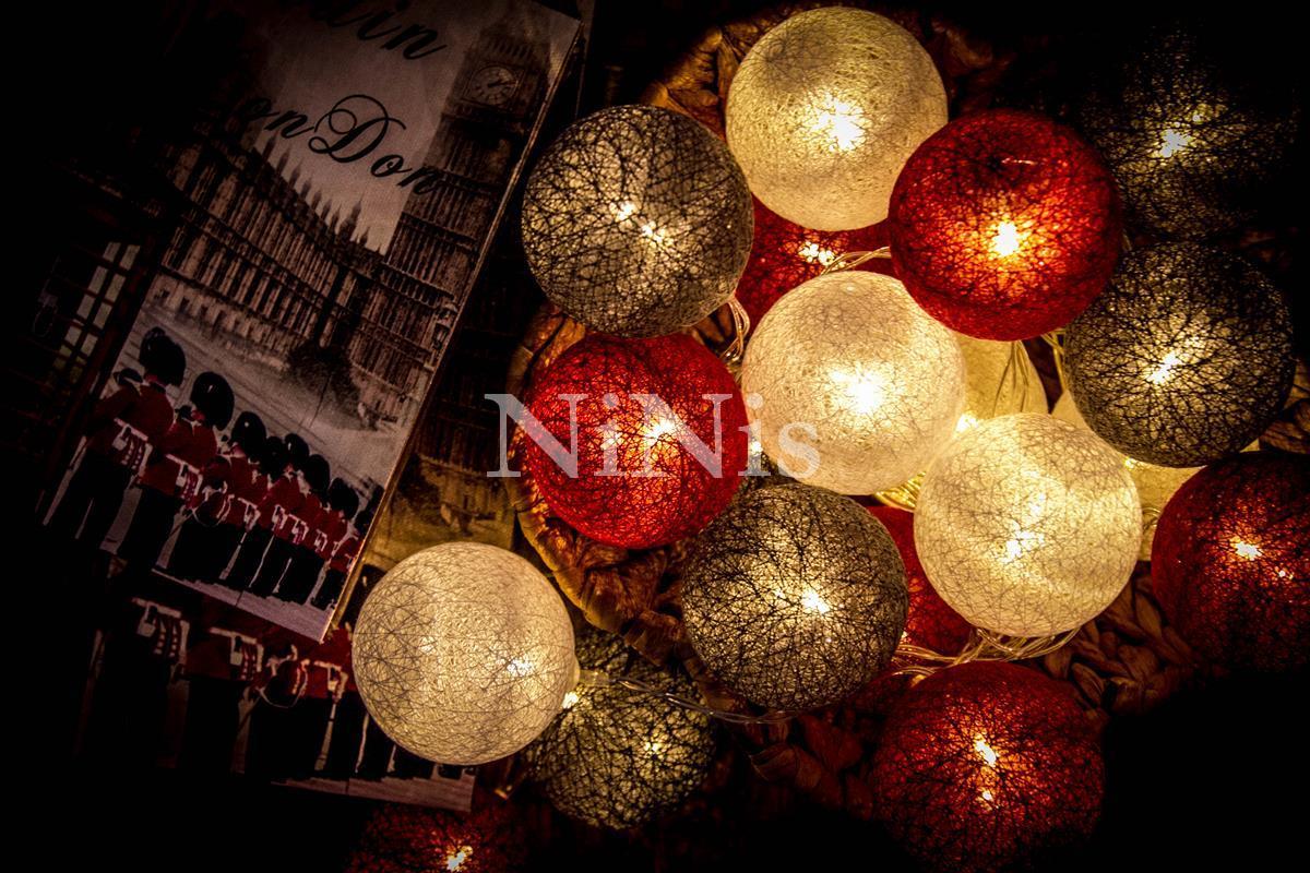 Cordão de luz Londres - luminária Led decorativa 20 leds