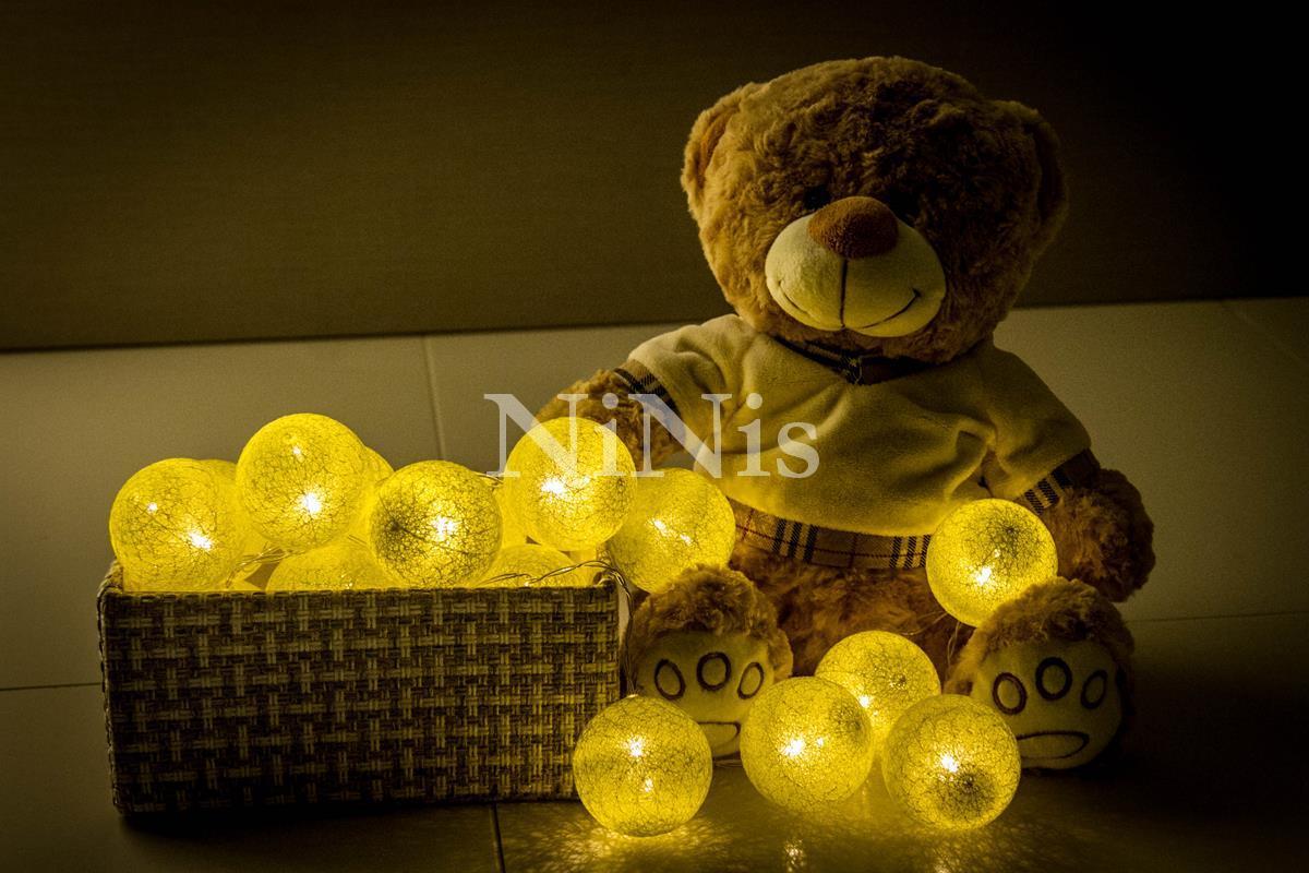 Cordão de luz Yellow - luminária fio de luz 20 leds