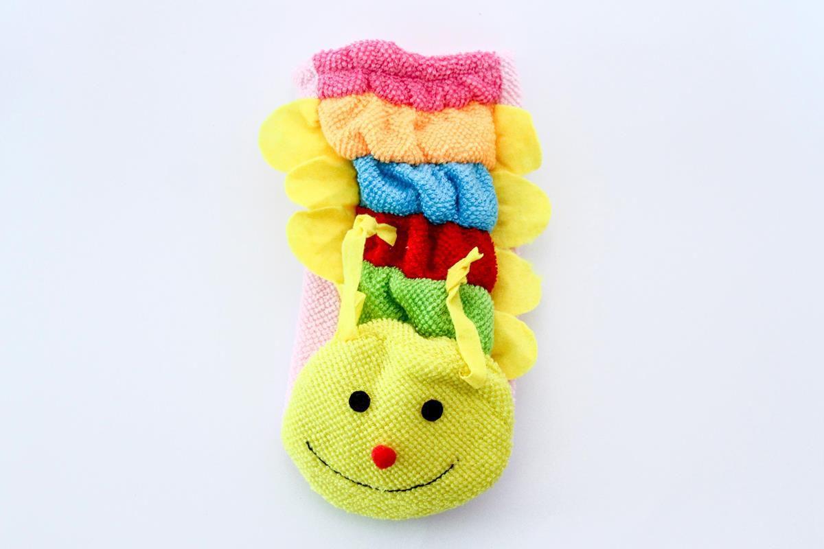 Kit com 4 Luvas para banho divertido e educativo do bebê