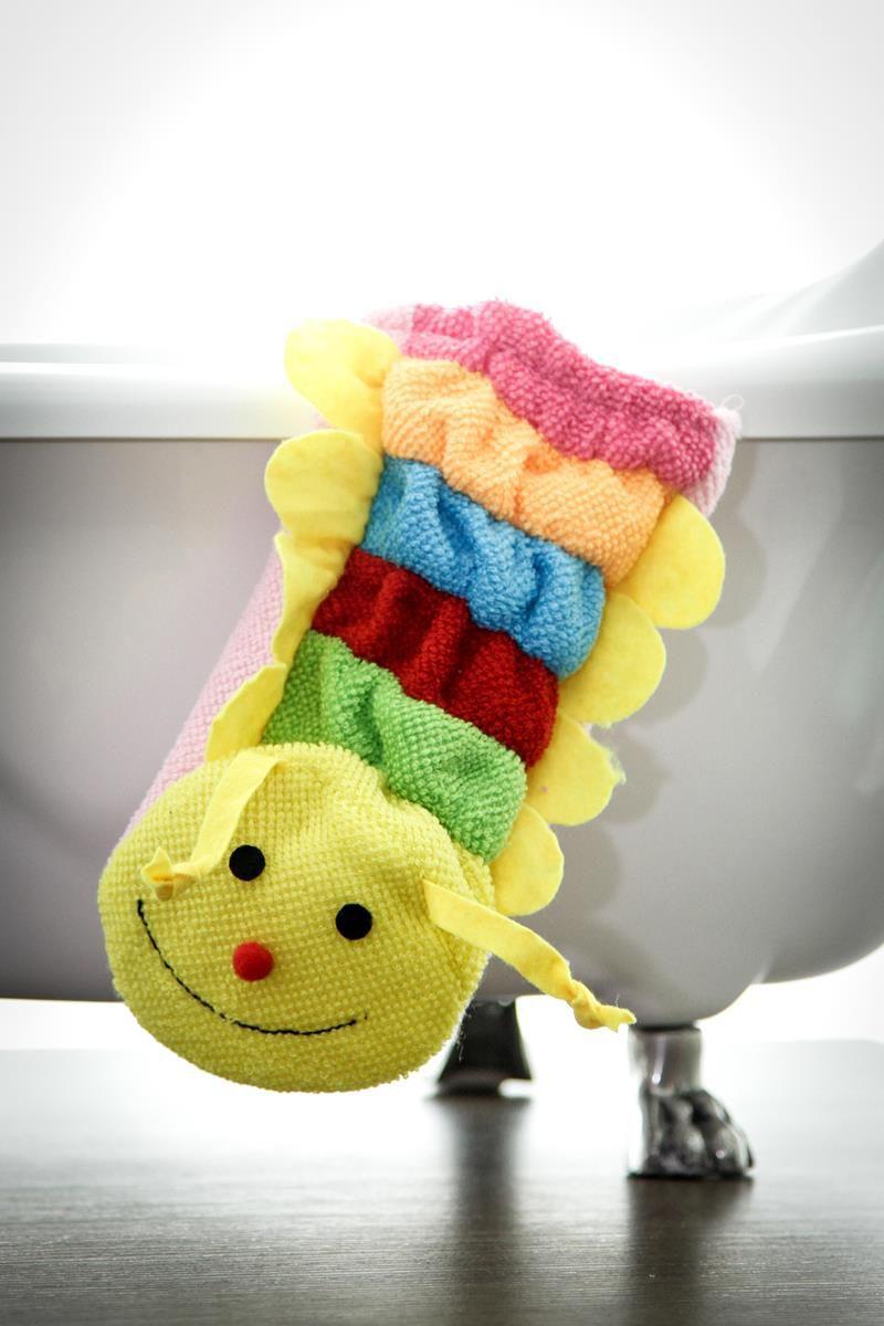Kit com 8 Luvas para banho divertido e educativo do bebê