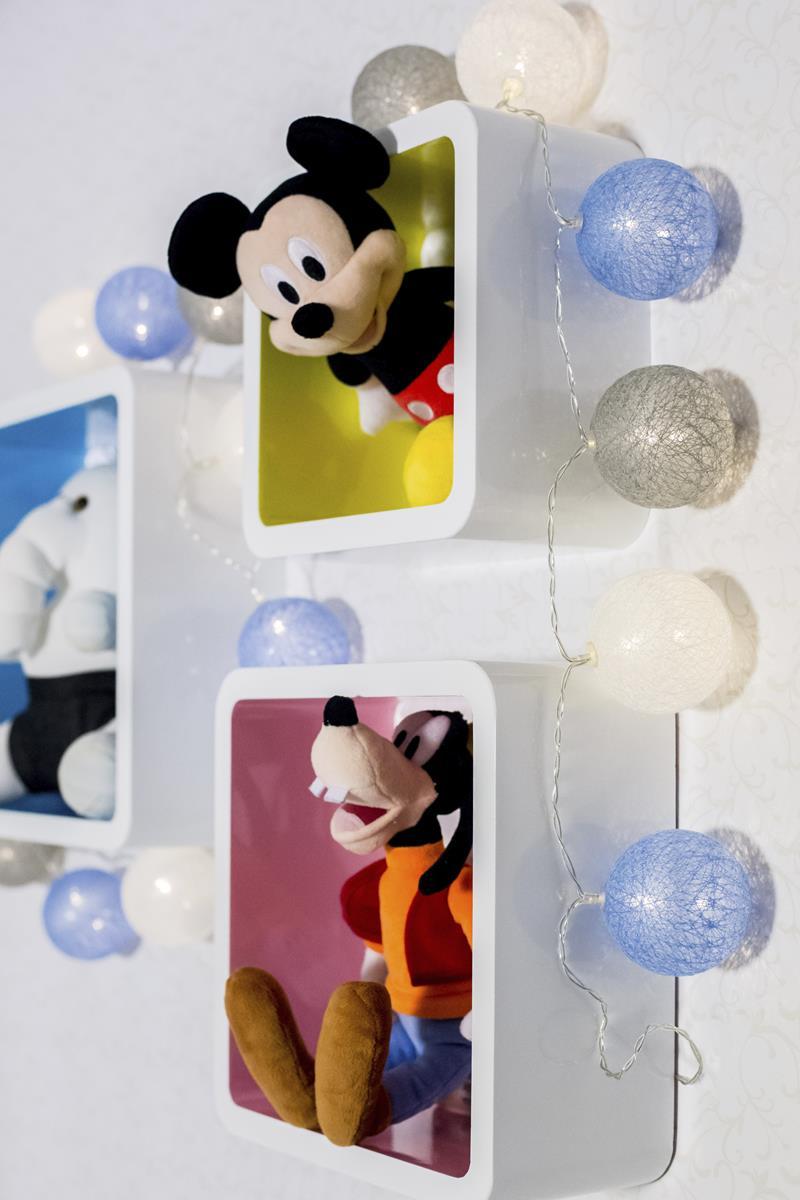 Kit trio de nichos decorativos MDF  laqueados coloridos decoração quarto de bebê