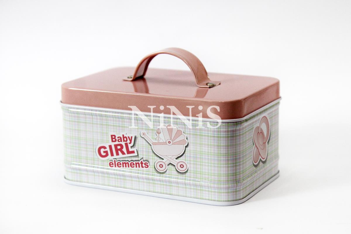 latinha maleta para  lembrancinhas/decoração  baby girl rosa