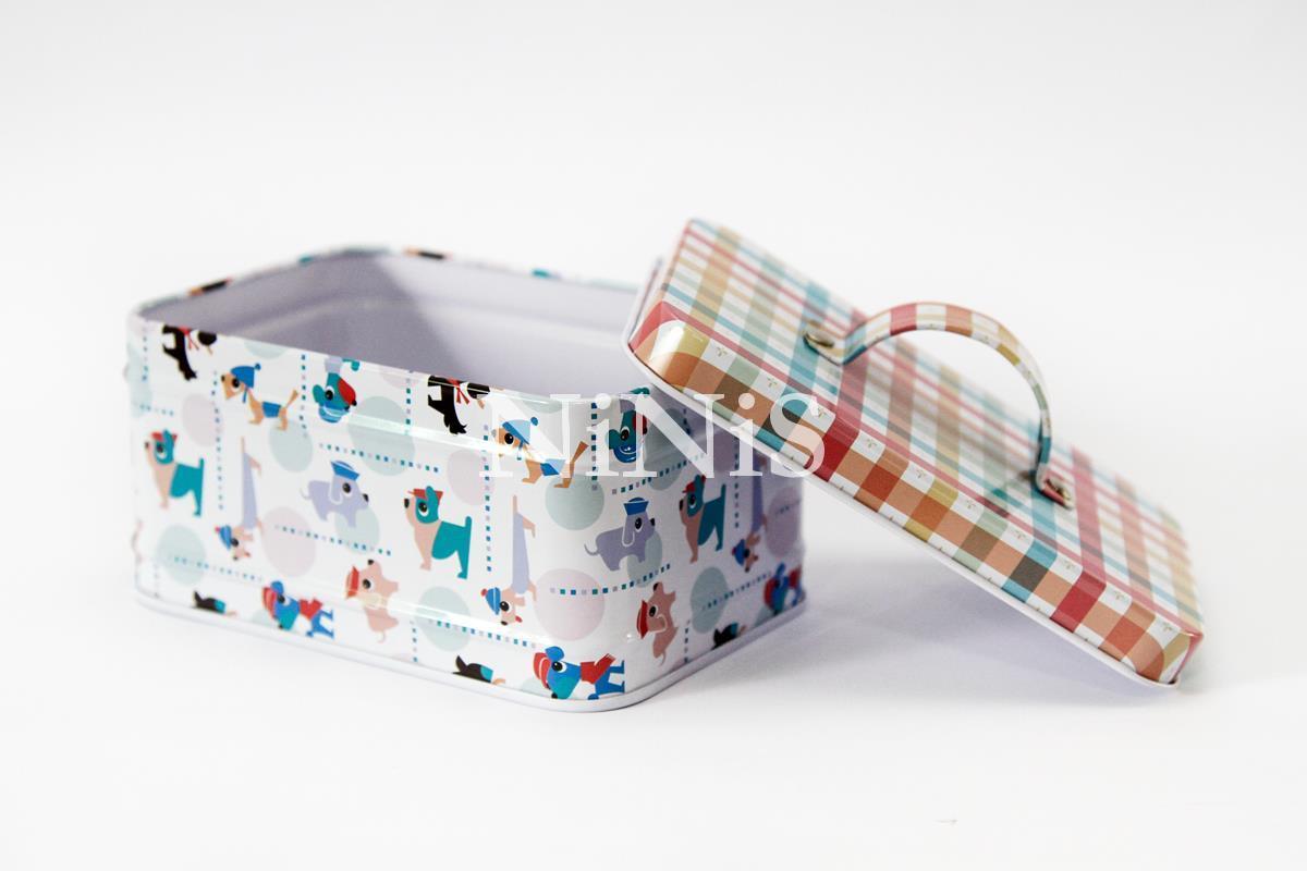 latinha maleta para  lembrancinhas/decoração  cachorrinhos