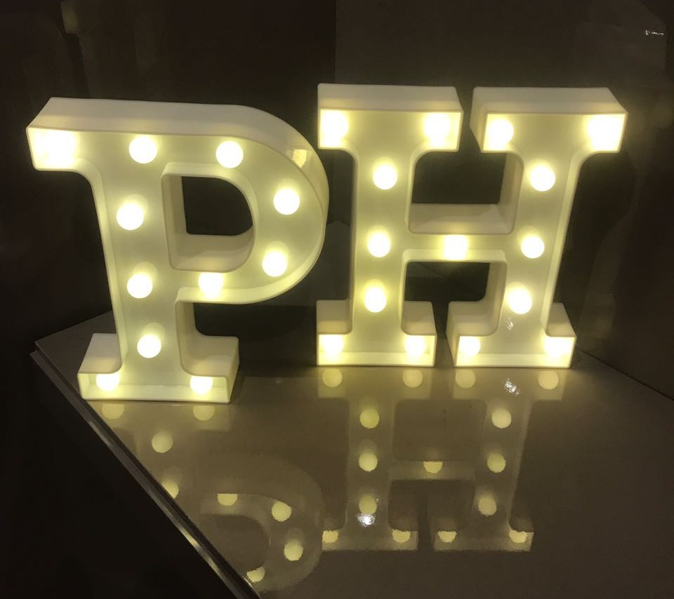 Letras luminosas decorativas led 3D  a pilha