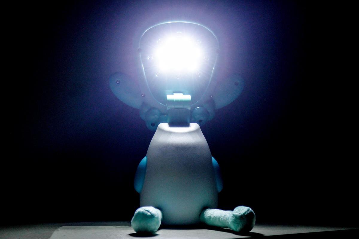 Luminária infantil Ovelha feliz LED USB abajur de mesa