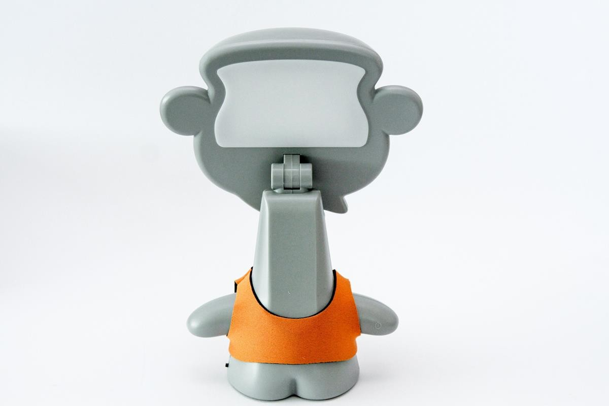 Luminária luz noturna bebê Baby Monkey cinza  LED  USB