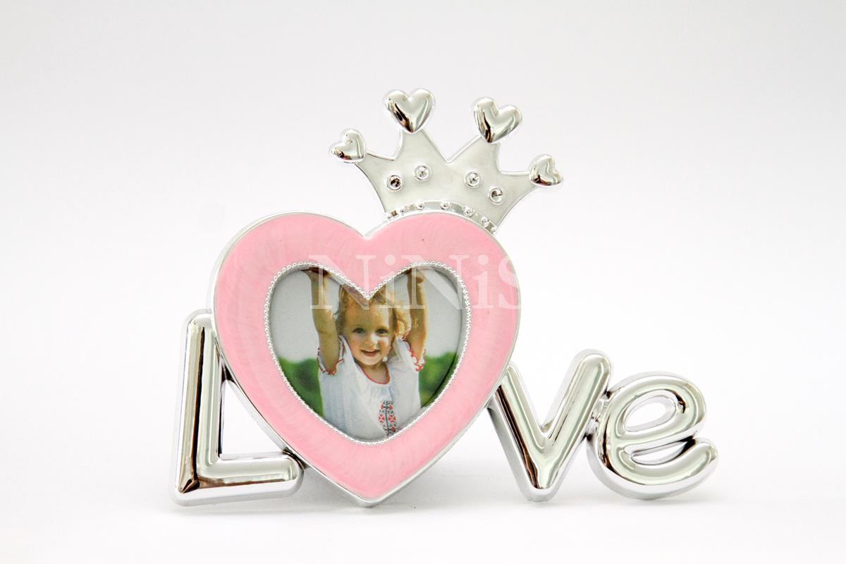 Porta Retrato infantil  princesa cor de rosa 5x6cm