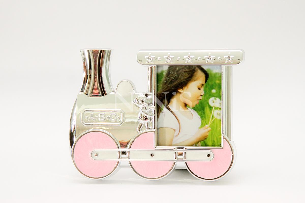 Porta Retrato infantil Trenzinho Rosa  7x6 cm