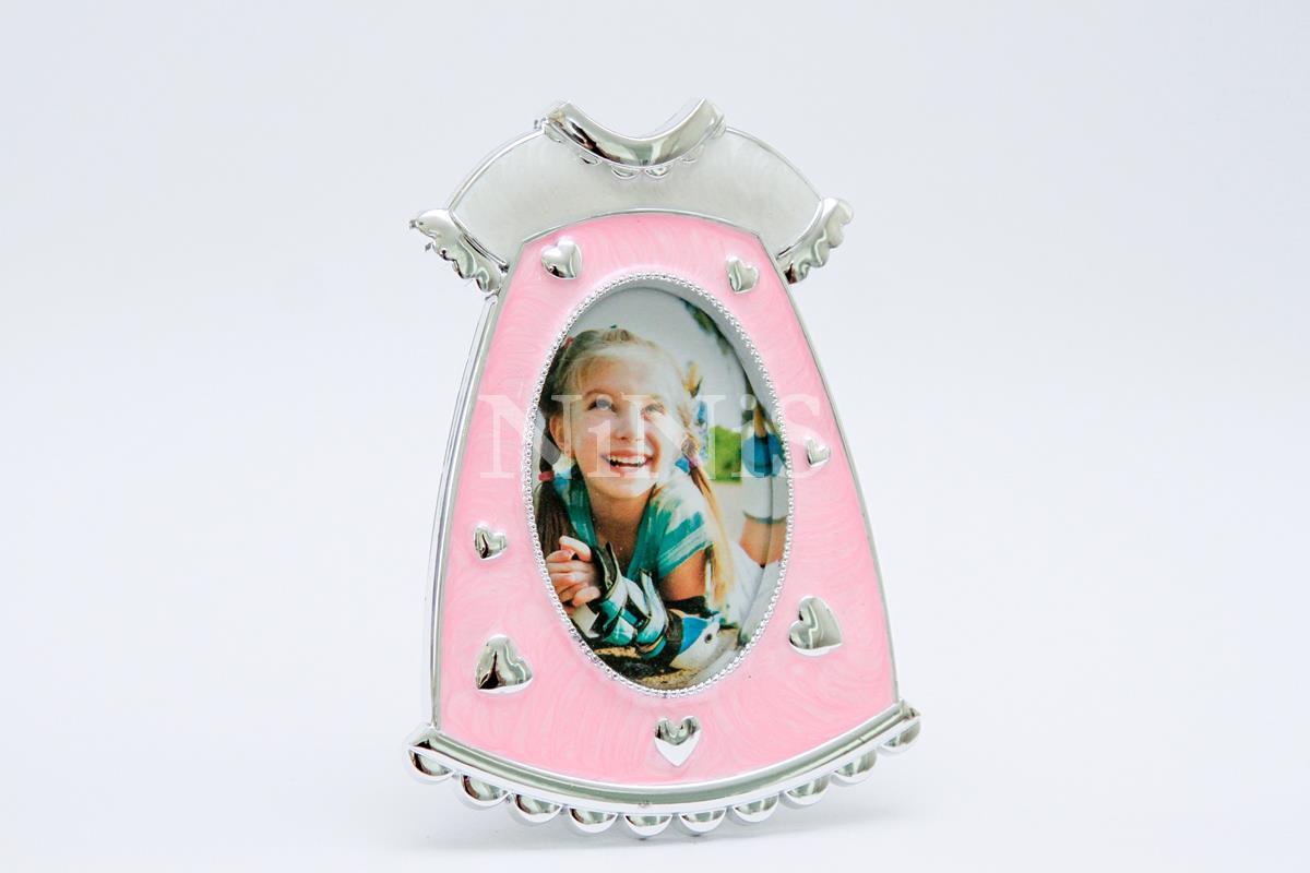 Porta Retrato infantil Vestidinho rosa  8x6 cm