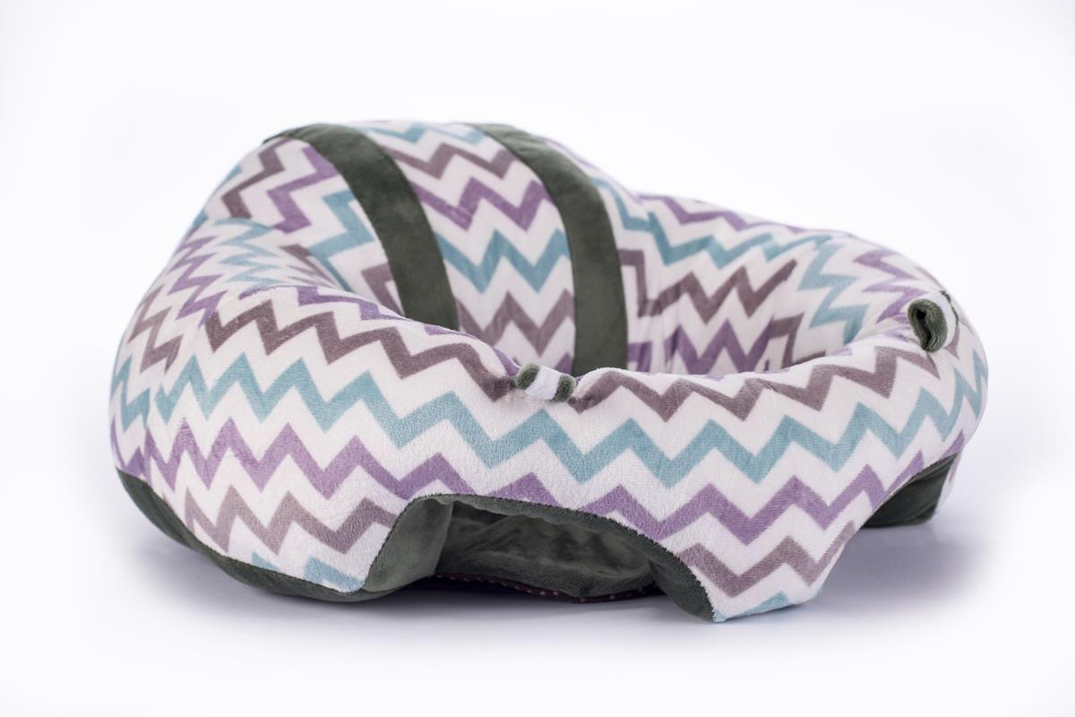 Sofá almofada senta bebê poltrona pelúcia Chevron baby