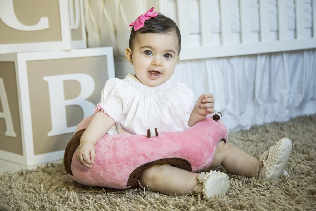 Sofá almofada senta bebê poltrona pelúcia Rosa frete grátis PAC para SUL (SC-PR-RS)