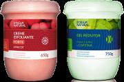 D'água Natural - Kit Creme Esfoliante Apricot Forte Abrasão 650g + Gel Redutor com Cafeína 750g