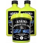 Lola Cosmetics - Kit Curly Wurly - Shampoo 250ml + Co-Wash/Condicionador 250g + Pudding 400g