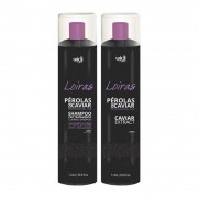 Widi Care - Pérolas de Caviar - Kit Profissional Loiras - Shampoo Pré Tratamento 1L + Caviar Extract 1L