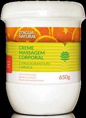 D'água Natural - Creme de Massagem Citrus e Arnica - 650g