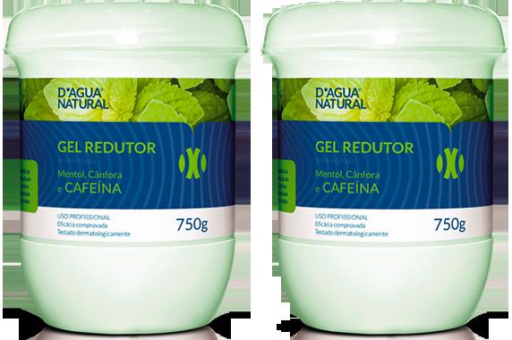 D'água Natural - Kit Duo - Gel Redutor com Cafeína - 750g