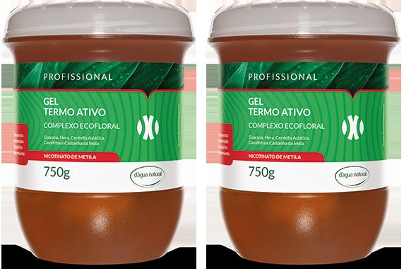 D'água Natural - Kit Duo - Gel Termo Ativo com Nicotinato de Metila - 750g