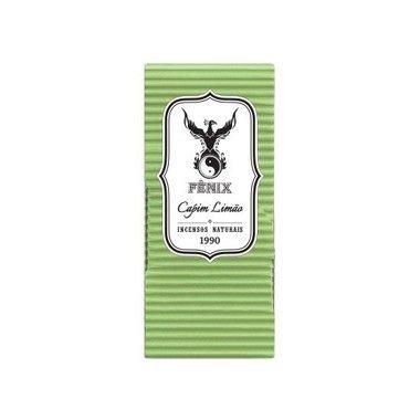 Fênix - Incenso Artesanal - Capim Limão - Médio - Vareta 9 Unidades
